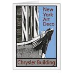 Art déco de Nueva York - Chrysler que construye Ea Tarjetón