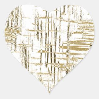 Art déco de oro pegatina en forma de corazón
