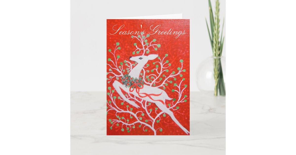 Art Deco deer Christmas Card | Zazzle.com