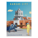 Art déco del aeropuerto de Kansas City Posters