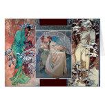 Art déco del collage de la princesa del invierno d tarjeton