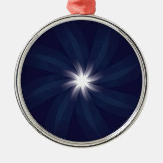 Art déco del espiral de la estrella azul del model ornamento de navidad