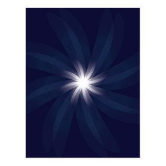 Art déco del espiral de la estrella azul del postales