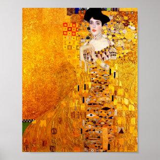 Art déco del retrato de Gustavo Klimt Adela Bloch- Poster