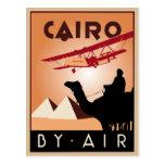 Art déco del viaje de Egipto del vintage Tarjeta Postal