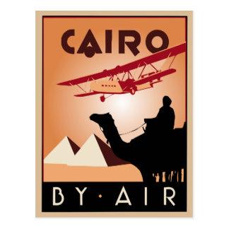 Art déco del viaje de Egipto del vintage Tarjetas Postales