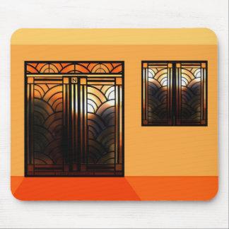 Art déco del vidrio de la mancha tapete de ratón