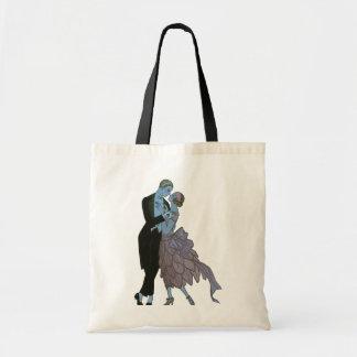 Art déco del vintage, danza del boda del amor de bolsa tela barata