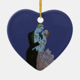 Art déco del vintage, danza del boda del amor de l ornamente de reyes