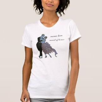 Art déco del vintage danza del boda del amor de l camisetas