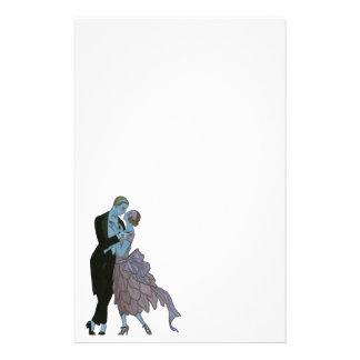 Art déco del vintage, danza del boda del amor de papeleria de diseño