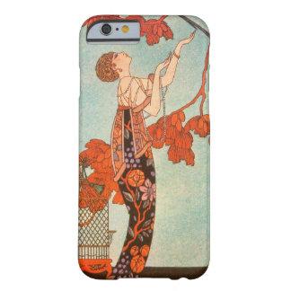 Art déco del vintage, pájaro frívolo de George Funda Para iPhone 6 Barely There