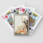 Art déco del vintage vestido para la tarde baraja cartas de poker