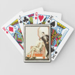 Art déco del vintage vestido para la tarde cartas de juego