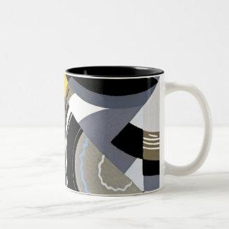 Art Deco Design #2 at Emporio Moffa Two-Tone Coffee Mug