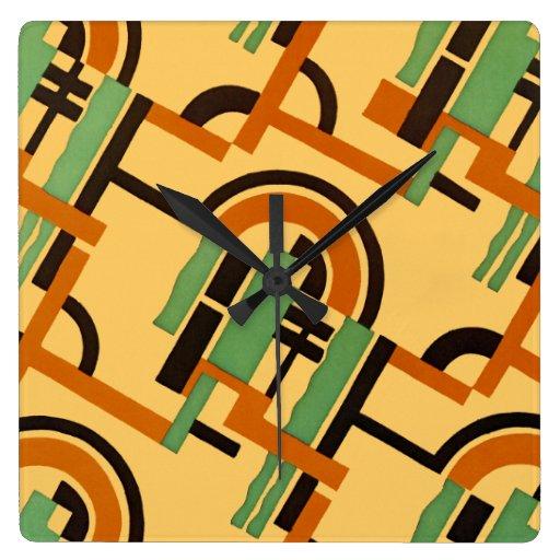 Art Deco Design #7 at Emporio Moffa Square Wall Clocks