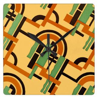 Art Deco Design #7 at Emporio Moffa Square Wall Clock
