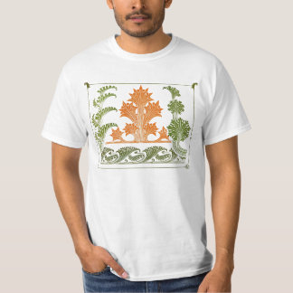 Art Deco Design Abstract Floral T-Shirt