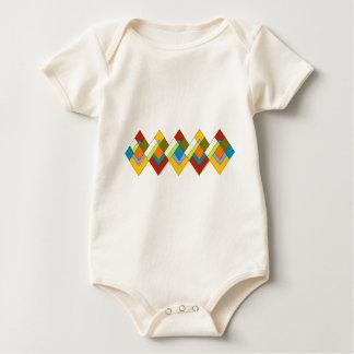 Art Deco Design Baby Bodysuit