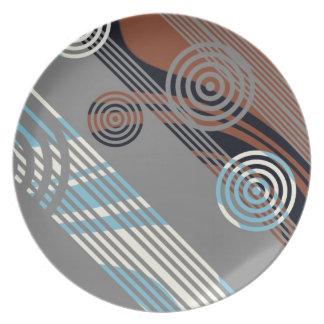 Art deco design dinner plate