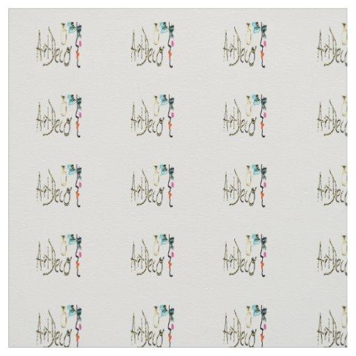 Art deco design fabric zazzle for Fabric with art deco design
