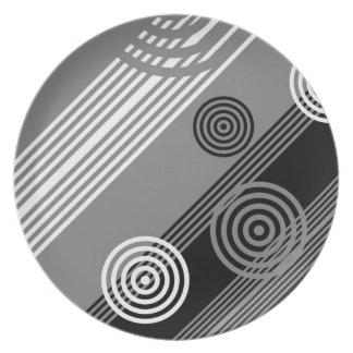 Art deco design melamine plate