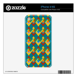 Art Deco Design on iPhone 4/4S Skin Decals For iPhone 4S