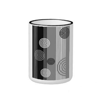 Art deco Design Ringer Mug