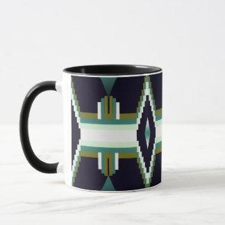 Art Deco diamond design coffee mug