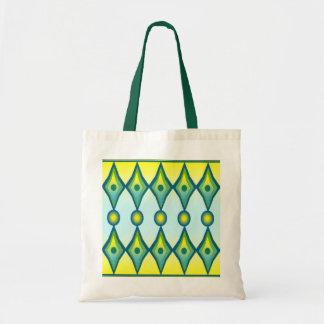 Art Deco Diamond Shape Canvas Bag