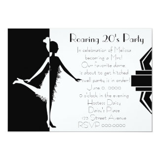 "Art  Deco Doll 5"" X 7"" Invitation Card"