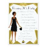 Art  Deco Doll 5x7 Paper Invitation Card