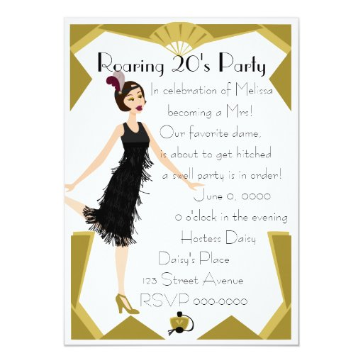 Art  Deco Doll Custom Invitation