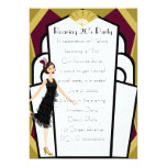 Art  Deco Doll Invitation