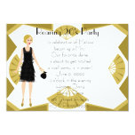 Art  Deco Doll Personalized Invitation