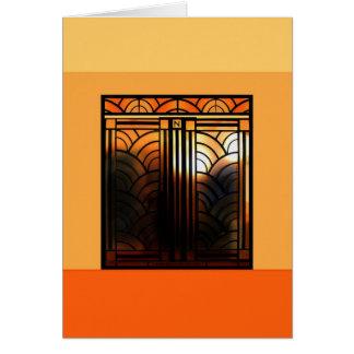 Art Deco Door 2 Greeting Card