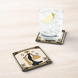 Art Deco drinks coaster