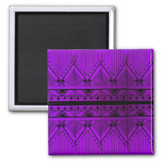 Art Deco Effect Design Lavender Purple Black Trim Magnet