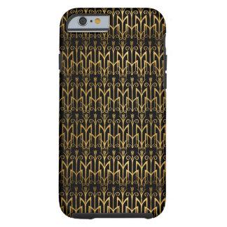 Art déco egipcio de oro de la cebada del color del funda resistente iPhone 6