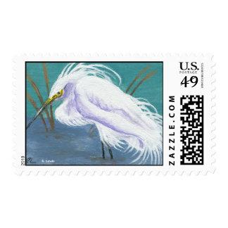 Art Deco Egret 2 Postage