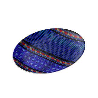 Art Deco Elegance in Regal Ultramarine Blue Plate