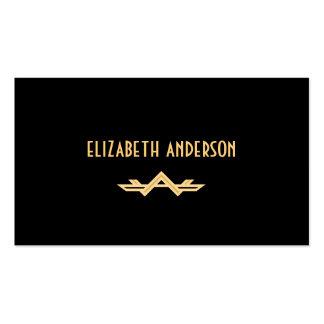 Art déco elegante - oro y negro tarjeta de visita