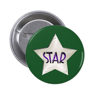 Art Deco Emerald Star Buttons