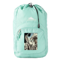 ART DECO EQUESTRIAN WITH RIDING CROP HIGH SIERRA BACKPACK
