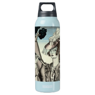 ART DECO EQUESTRIAN WITH RIDING CROP INSULATED WATER BOTTLE