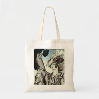 ART DECO EQUESTRIAN WITH RIDING CROP TOTE BAG