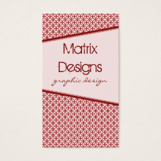 Art Deco Fab Business Card, Red Business Card