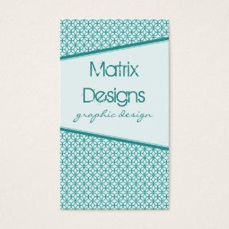 Art Deco Fab Business Card, Teal Business Card