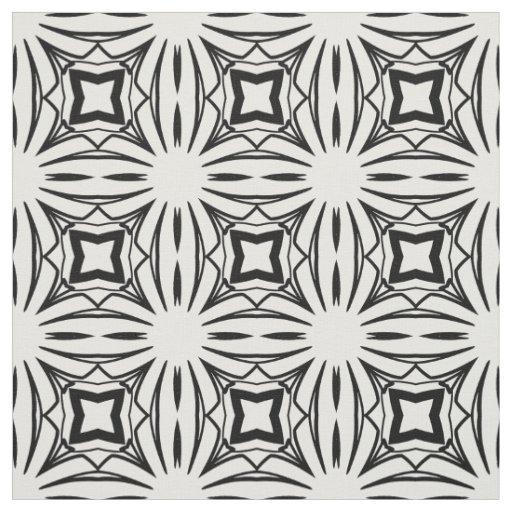 Art deco fabric design in black and white zazzle for Fabric with art deco design