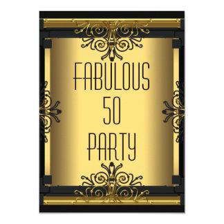 ART DECO Fabulous 50 50th Gatsby Birthday Party Card